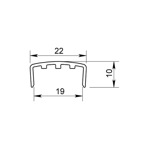 PROFIL U POUR PORTE COULISSANTE P110