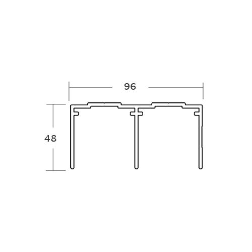RAIL HAUT POUR PORTE COULISSANTE P610 PVC