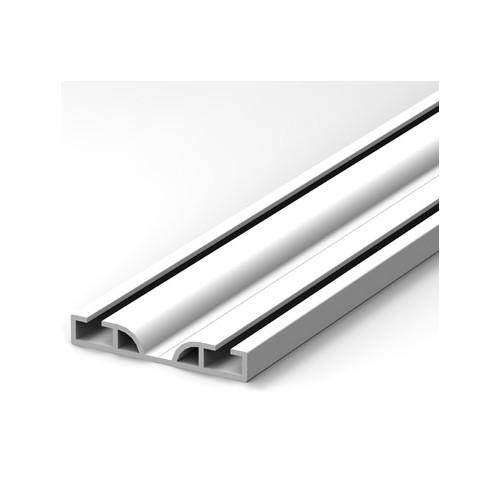 RAIL BAS POUR PORTE COULISSANTE P610 PVC