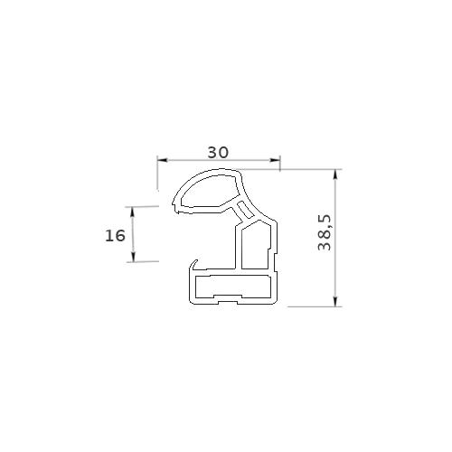 POIGNEE POUR PORTE COULISSANTE P610 PVC