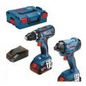 Kit BOSCH GSR 18V-28 + GDR 18V-160 + 2 batteries 4.0Ah
